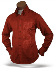 Men's Fashion Angelino Shirts Dante Rust - ANGELINO