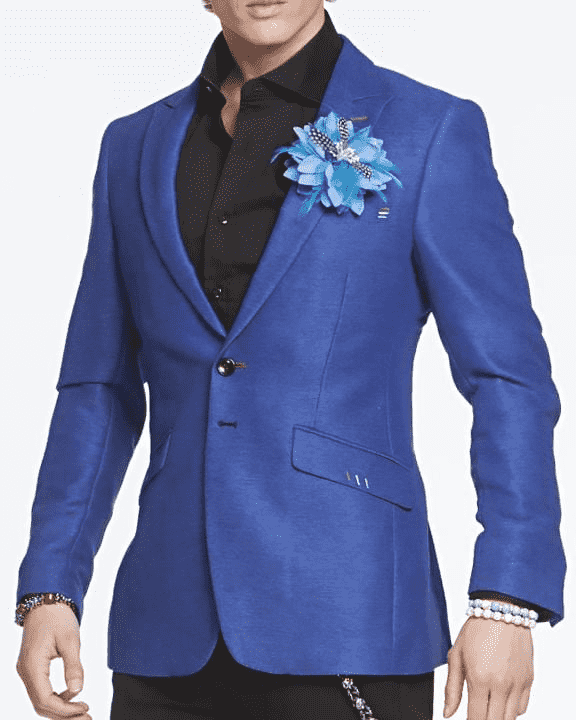 Men's Fashion Sport Coat and Blazer Peak Blue - ANGELINO