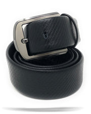 Men's Genuine LeatherBelt - 106 Black - ANGELINO
