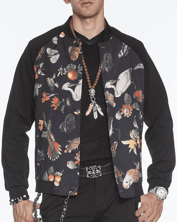 Men's Fashion Bomber Jacket Zoo - ANGELINO