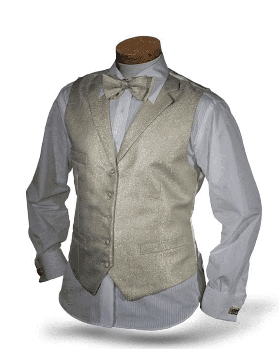 Men's Fashion Angelino Vest Set Bello Gold - ANGELINO