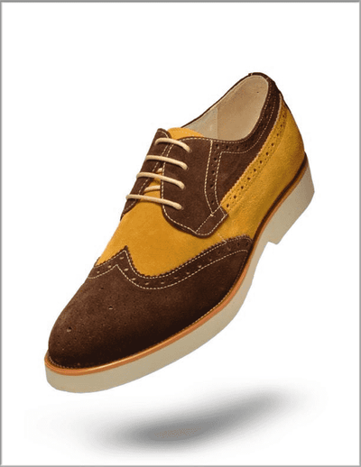 Men's Oxford Suede Leather Shoes T. Sued Coffee - ANGELINO