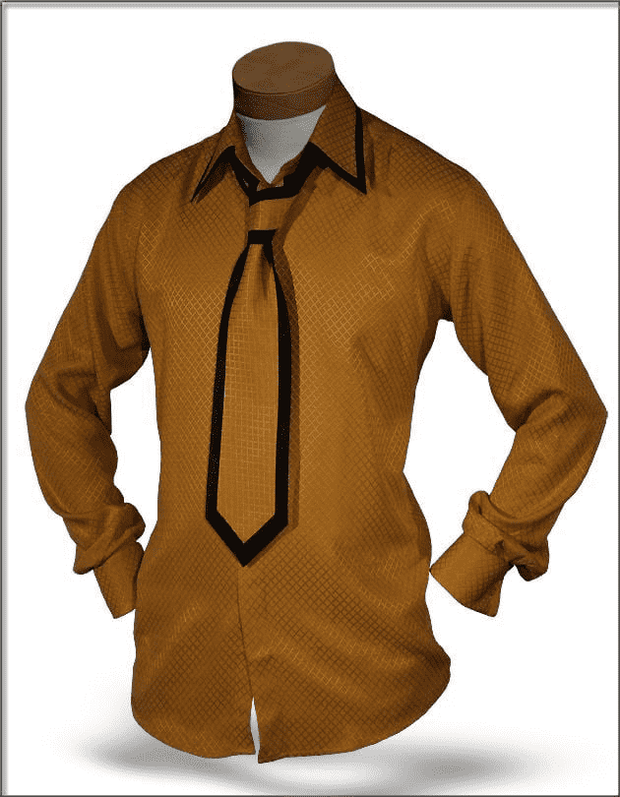 Men's Silk Shirts Gold - ANGELINO