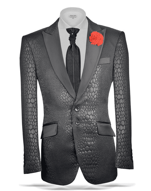 Fashion Sport Coat/Blazer-  woven fabric in Black color