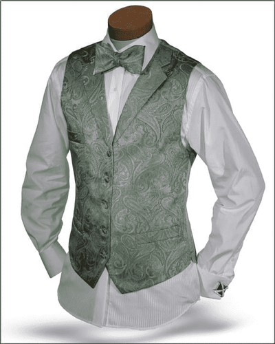 Men's New Angelino Vest Set Pillipo Lt. Green - ANGELINO