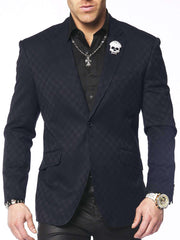 Men's blazer B. Check Navy - ANGELINO