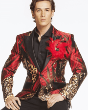 Men's Fashion Luxury Silk Blazer/Jacket Jungle - ANGELINO