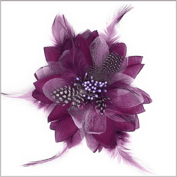 Prom Lapel Flower- Flower1 Purple  - Wdding- Prom - Men - ANGELINO