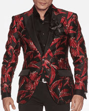 Men's Fashion Blazer Theo Red - ANGELINO