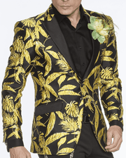 Men's Fashion Blazer Theo Yellow - prom - wedding - tuxedo - ANGELINO