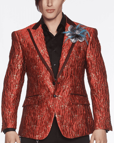 Men's Fashion Blazer-Davis Red