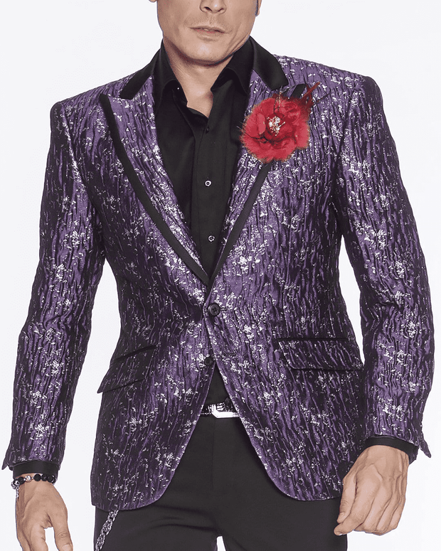 Men's Fashion Blazer-Davis Purple