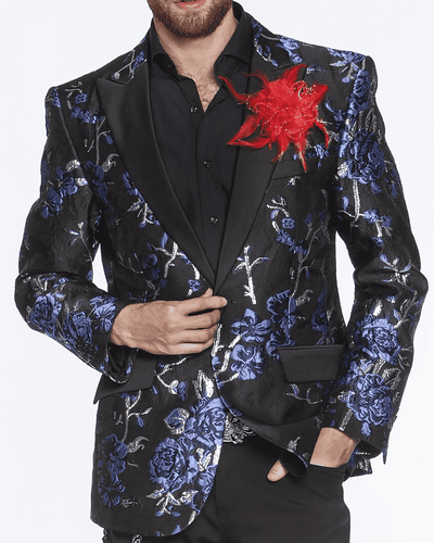 Men's Fashion Blazer Celleb Blue - ANGELINO