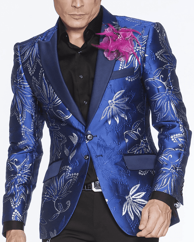 Men's Fashion Blazer-Oliver Blue - ANGELINO