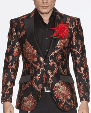 Blazer for Men Cooper Red - ANGELINO