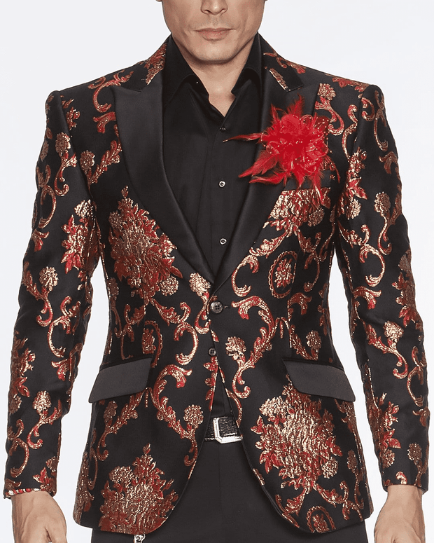 Men's Fashion Blazer-Cooper Red