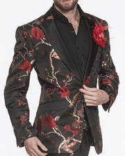 Men's Fashion Blazer Spring Red - ANGELINO