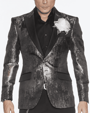 Men's Fashion Blazer-Art Gray - ANGELINO