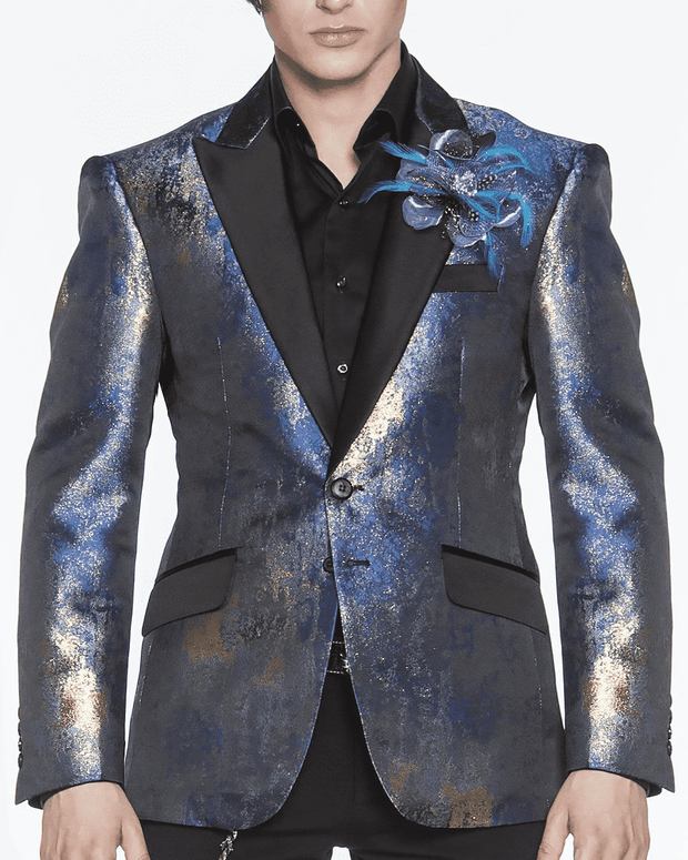 Fashion Blazer-Art Blue | ANGELINO