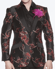Men's Fashion Blazer Kash Red - ANGELINO