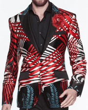 Mens Fashion Blazer/Jacket Silk Palm Spring - ANGELINO