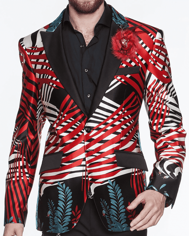sporty silk blazer for men