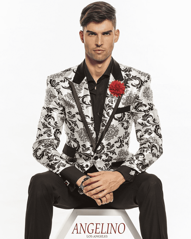 fancy fashion blazer silver for men