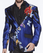 Men's Silk Blazer/Jacket Butterfly Fashion - ANGELINO