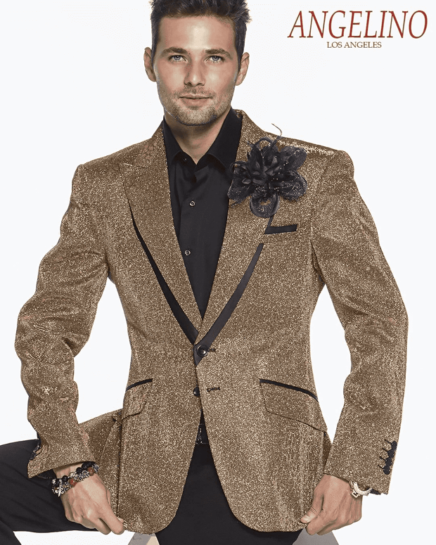 Men's Fashion Suit-Lucio Gold
