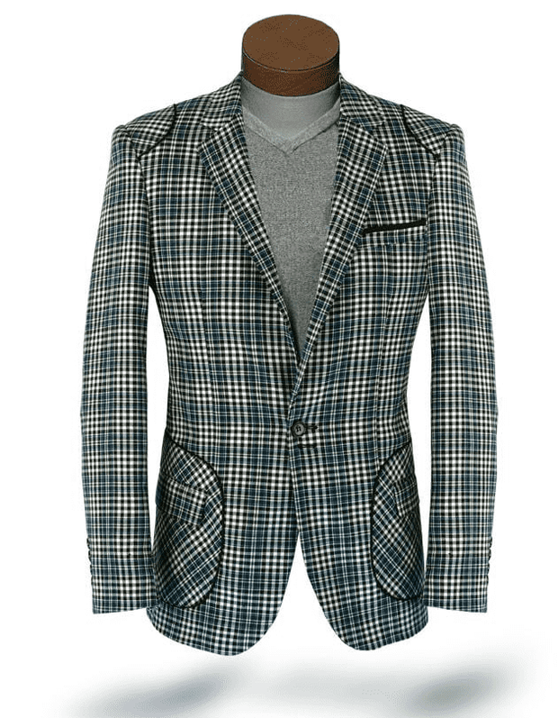 mens blazer plaid green