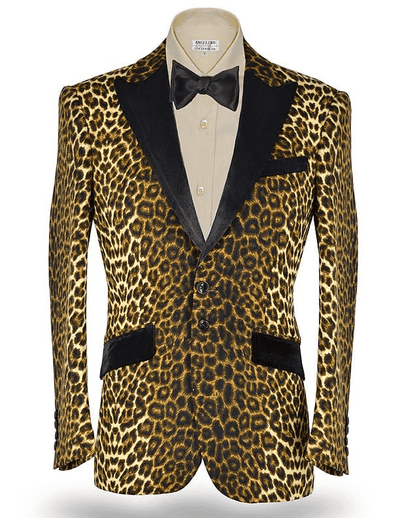 Sport Coat, men's fashion blazer Leopard design Jacket - ANGELINO