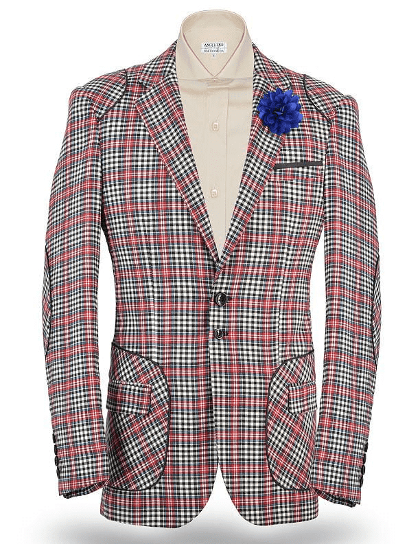 Show Stopping Angelino Sport Jacket, Island Red