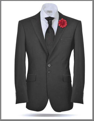 Men's Classic Fashion Blazer and Tuxedo Jacket Leonardo Black - ANGELINO