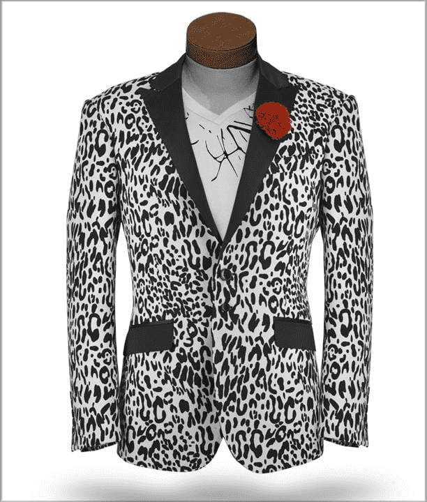 fashion blazer tiger print