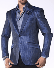 Fashion Sport Coat/Blazer- Tyler Blue - ANGELINO