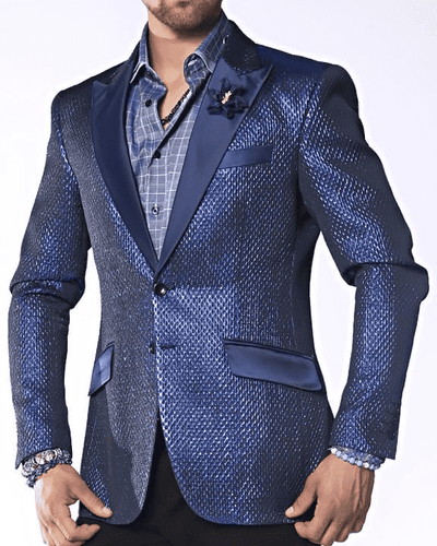 Fashion Sport Coat/Blazer- Tyler Blue | ANGELINO