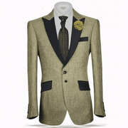 Men's Sport Coat Blazer Grant Green - ANGELINO