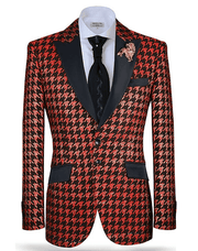 Fashion Suit, Hounds Red - ANGELINO