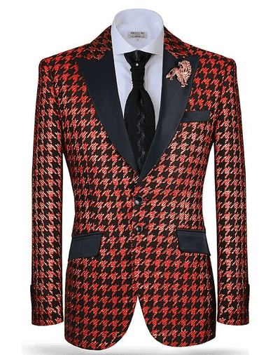 Men's Fashion Suit-Hounds Red