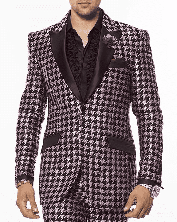 Men's fashion Suit-Hounds Purple
