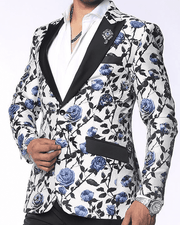 Show Stopping Fashion Blazer and Sport Coat- Valen Blue