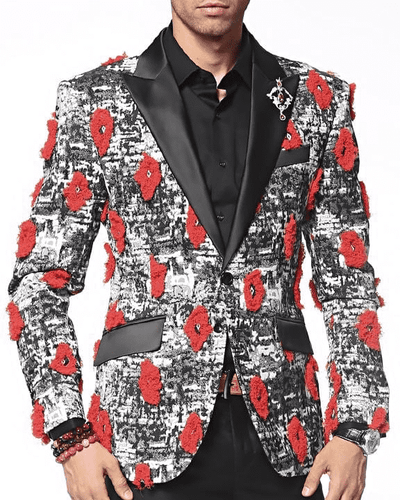 Men's Fashion Blazer and Sport Coat Lips - ANGELINO