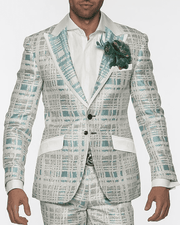 Men's Fashion Suit-Maro Teal