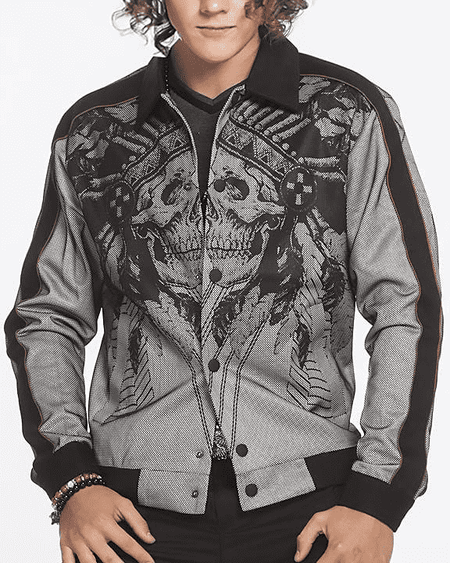 sporty bomber jacket for men
