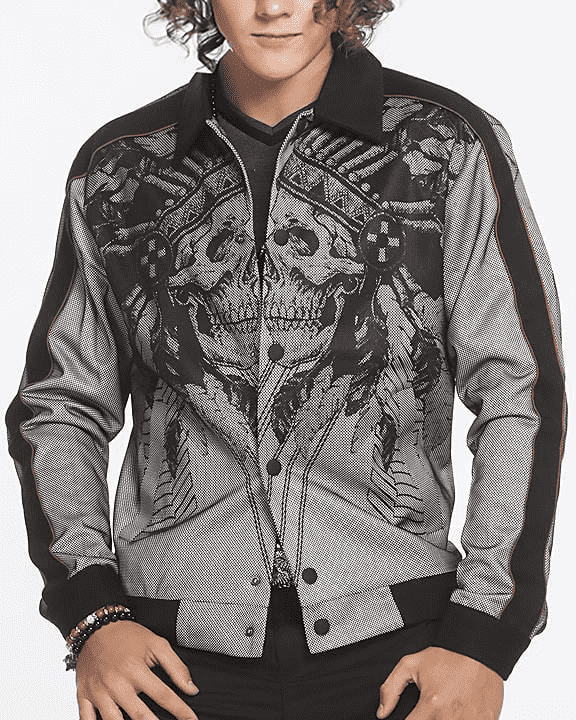 Bomber Jacket Skull- Sport Jacket- Fashion - Men - ANGELINO
