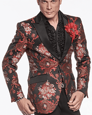 Mens Fasion Blazer-Savile Red