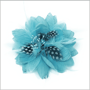 Men's Fashion Lapel Flower- Flower1 Teal - ANGELINO