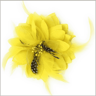 Men's Fashion Lapel Flower- Flower1 Yellow - ANGELINO