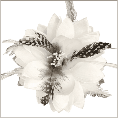 Men's Fashion Lapel Flower- Flower1 White - ANGELINO