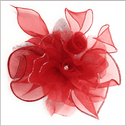 Men's Fashion Lapel Flower- Flower2 Red - ANGELINO